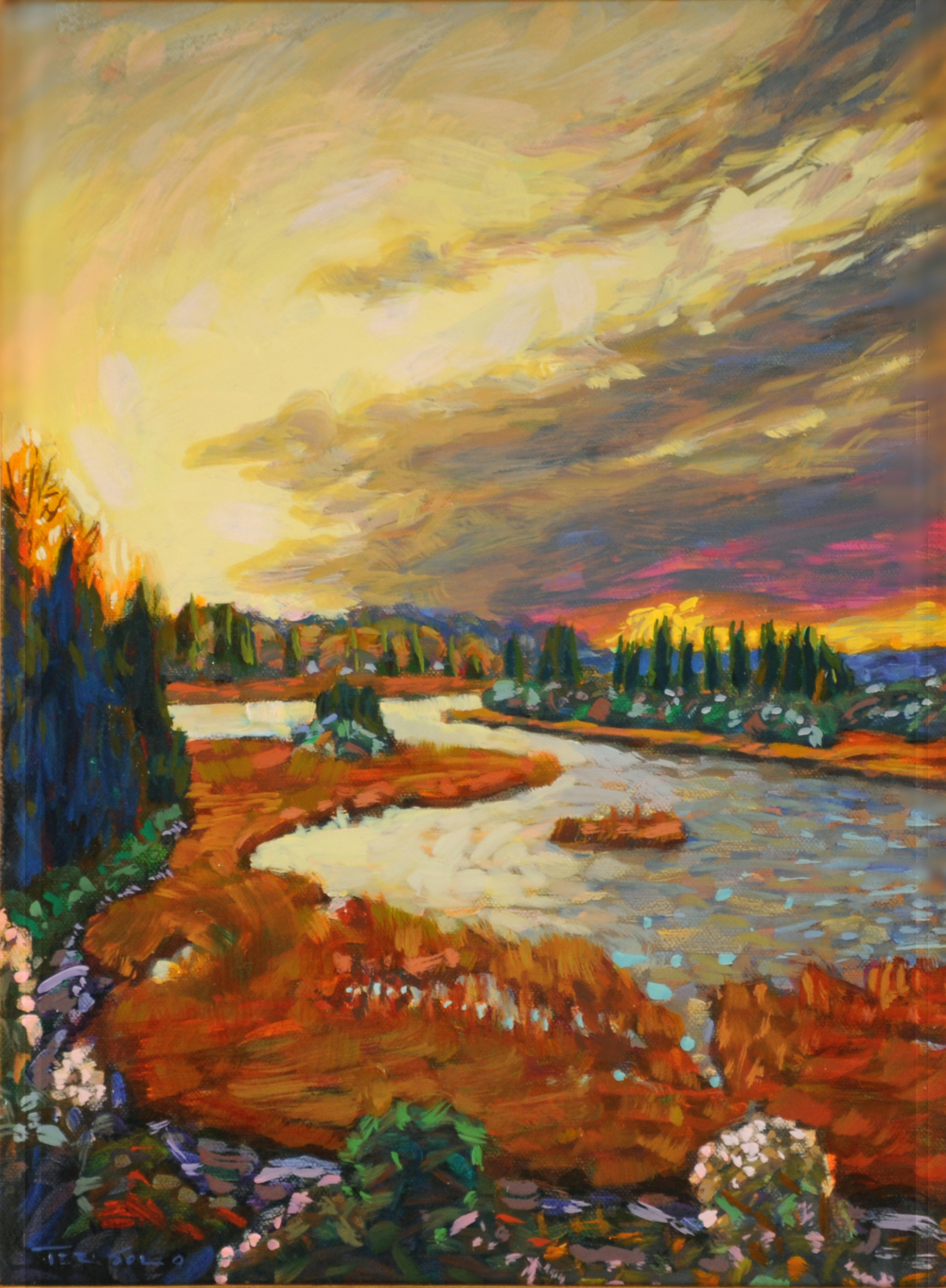 """Martha Sun , oil on canvas, 24 1/4"""" x 20 1/2"""" framed, $1,750"""