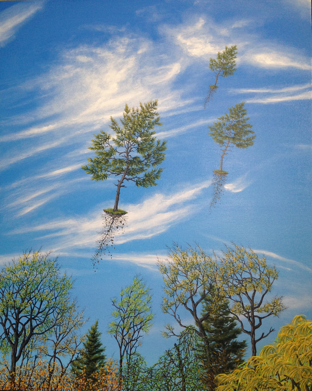 "Evergreen Spring , oil on canvas, 30"" x 24"", $3,500"
