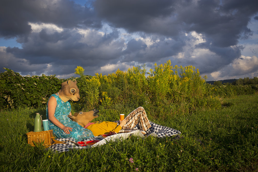 "Horace and Agnes: Picnic , digital archival inkjet print, 13"" x 19"", $285"