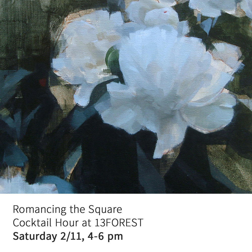Above: Mike Ryczek,  Peony Landscape , oil on canvas