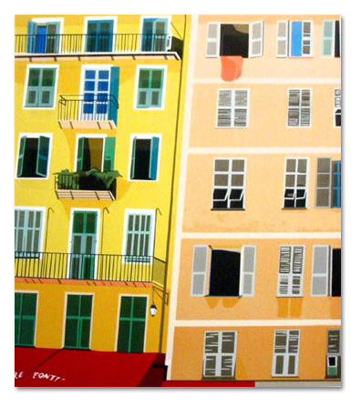 "Colors of Nice (5/55) , serigraph on paper, 31"" x 26"", $600"