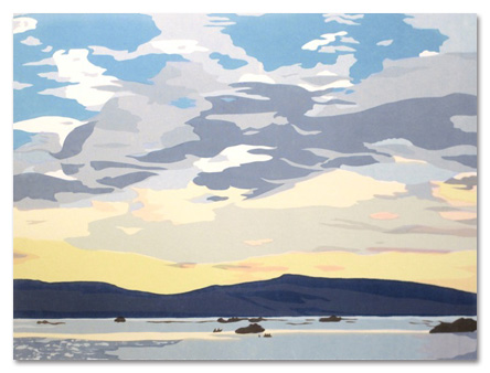 "Patagonia: Morning Sky I (8/50) , serigraph on paper, 14"" x 19"", $325"