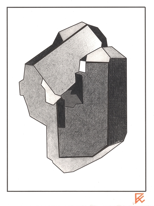 "Drawing Eight , inkjet print and graphite on Rives paper, 11"" x 8"", $225"