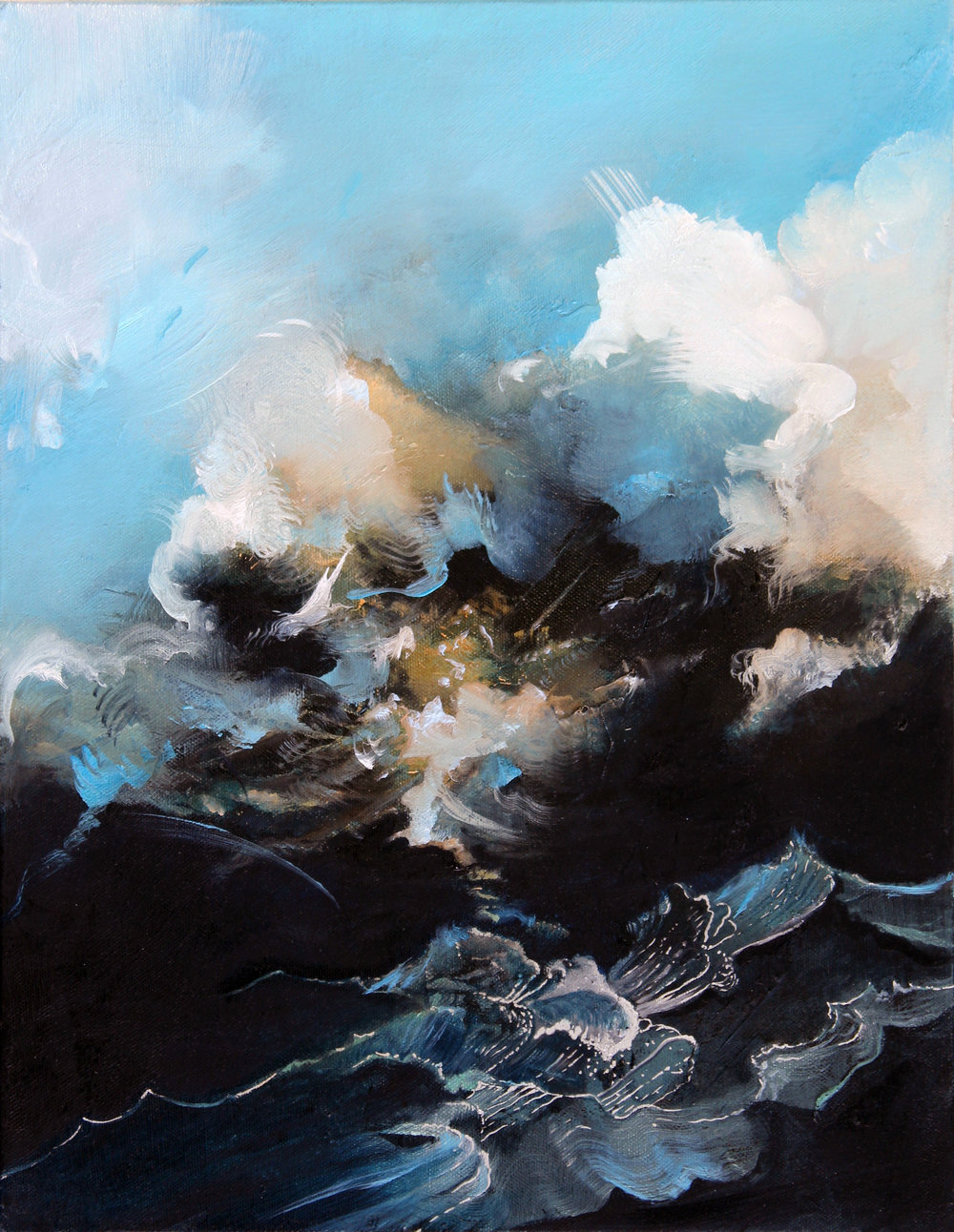 "Entropy High XXIV , oil on canvas, 18"" x 14"", $1,600"