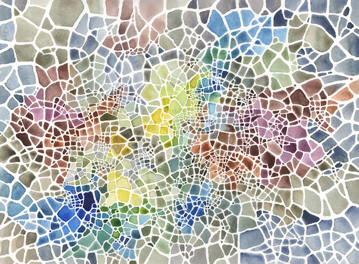"Bright (Cityspace #297) , watercolor on paper, 16"" x 20"" framed, $475"