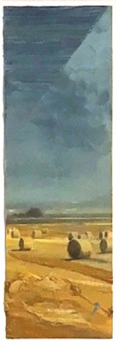 "Study for Goethe #4 , oil on canvas, 25 1/2"" x 13 3/4"" framed, $1,200"