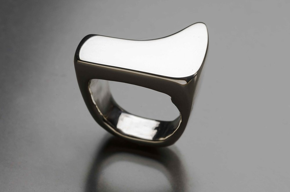 Abstract ring , sterling silver, size 6, $140