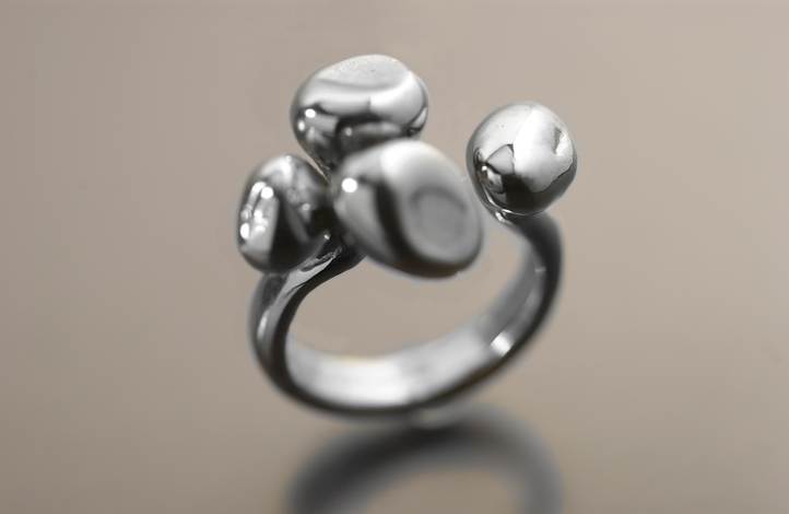 Mushroom ring , sterling silver ,  size 6, $185