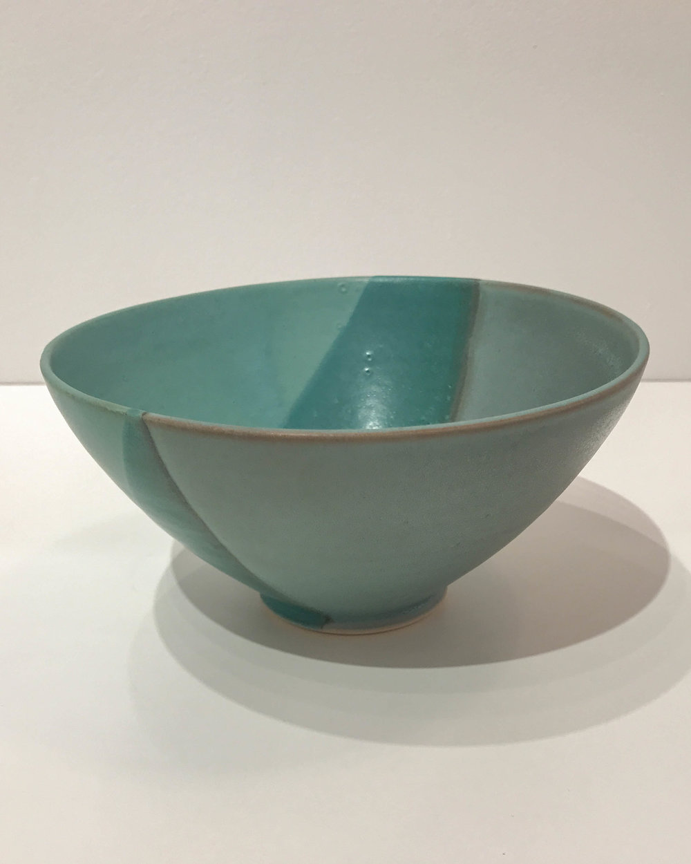 Large green bowl, hand-thrown stoneware, $48