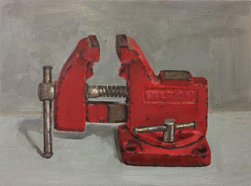 "Wilton Vise , oil on panel, 9"" x 12"", $325"