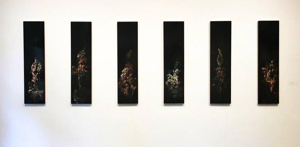 Nicole Duennebier, Hydnellum Myriorama , acrylic on panel