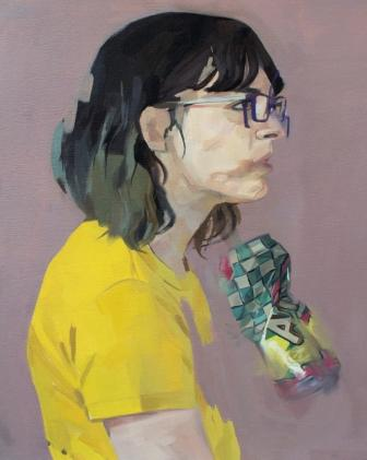 "Not sad I'm gone just that I left,  oil on panel, 20"" x 16"", sold"