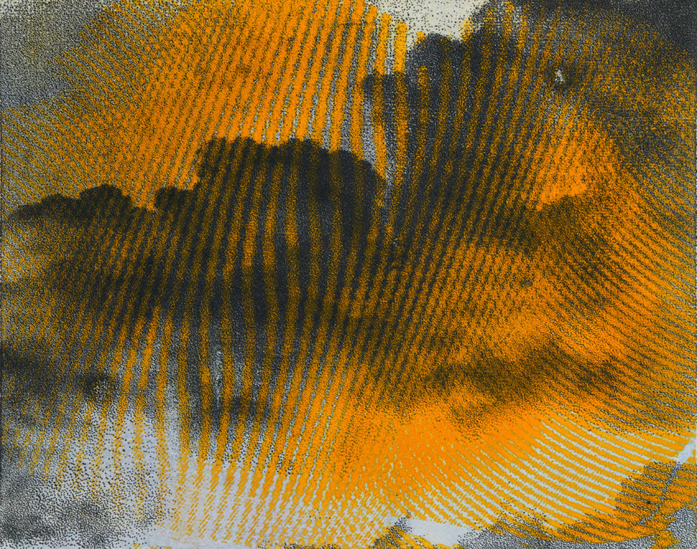 "RLP 1892A , monoprint on paper, 11"" x 15"", $420"