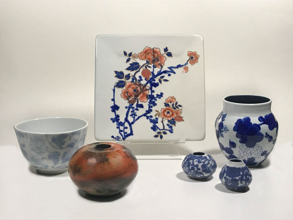porcelain and stoneware pottery