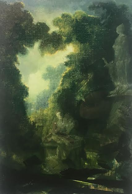 "Untitled/Fragonard (1838) , oil on linen, 20"" x 14"", $2,400"