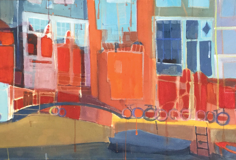 Bonita LeFlore , detail from  Amsterdam , acrylic and pastel on canvas