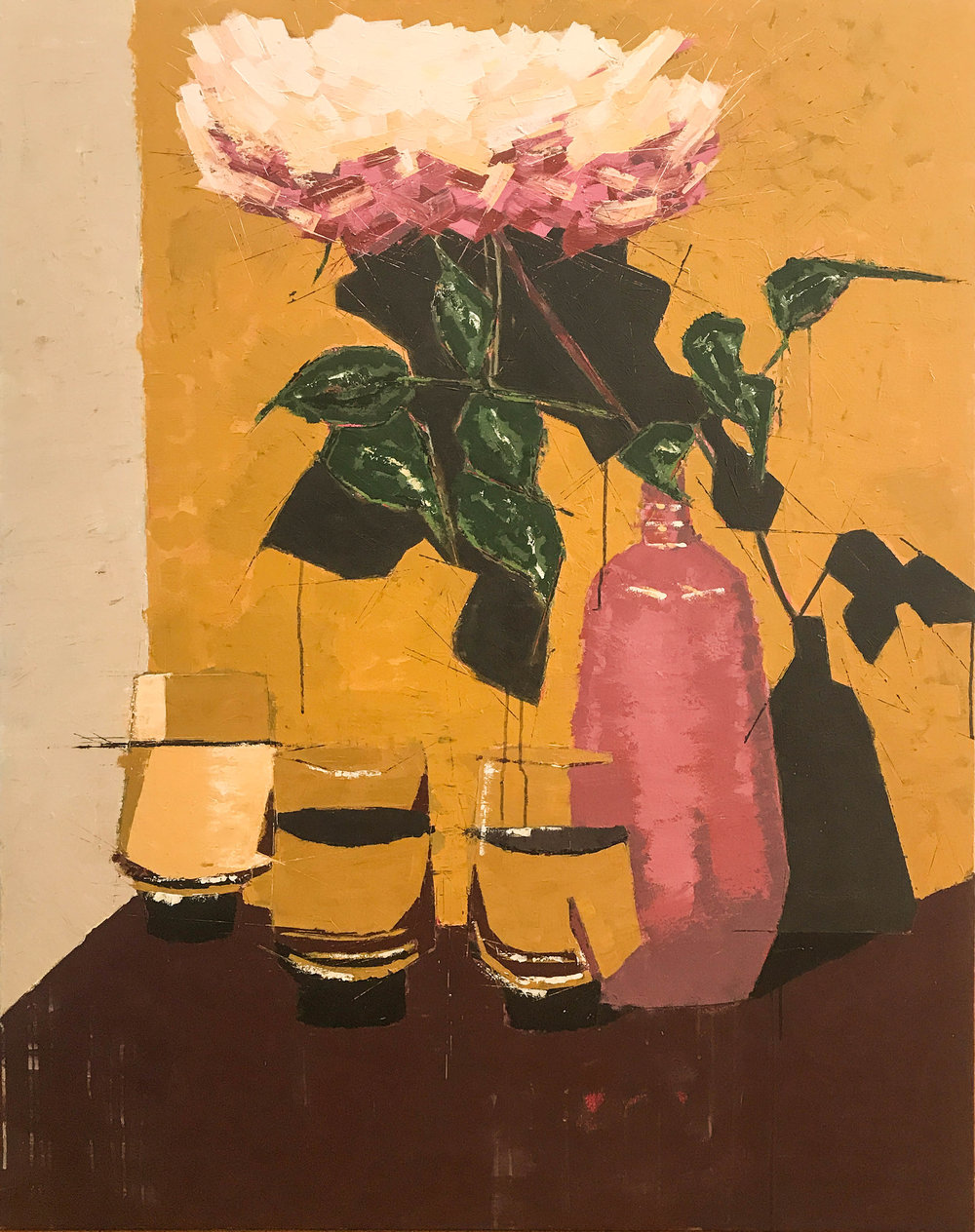 """Rose and Water , acrylic on canvas, 60"""" x 48"""", $4,500"""