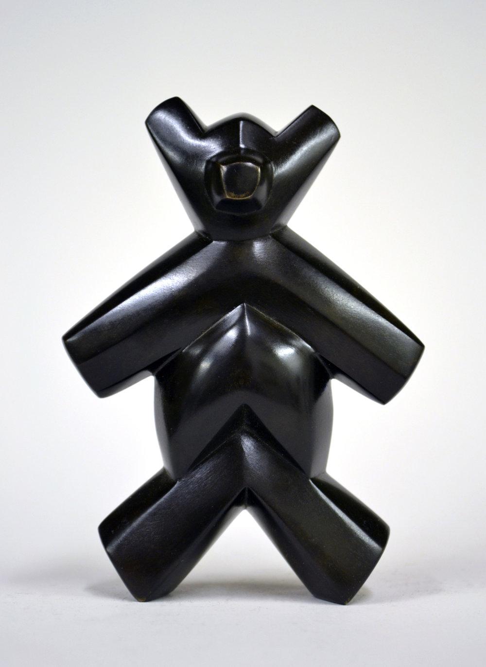 "Chevron Teddy (2/7) , bronze, 4 1/2"" x 3 1/4"" x 1 1/2"", $600"