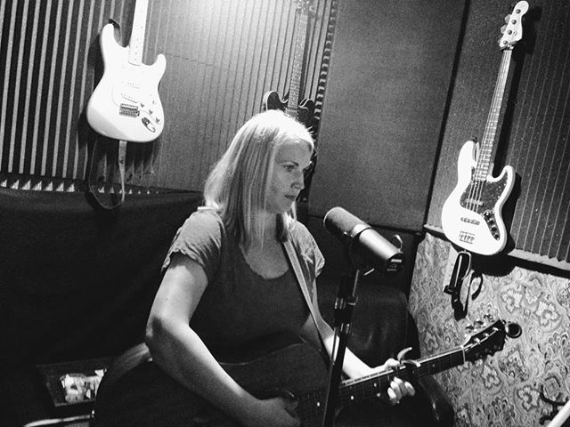 From the vault! #tbt early 2014. After being named Standout Performer of 2013 at @wclatthequeen #winning #recording time, we hit #studio825 w/ @the_original_ray to record our EP that would be released later that year. Here, Maren is laying down the #guitar for 'A Little Bit Crazy'