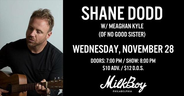 @meaghankyle will be back at @milkboyphilly just 2 weeks from today, Nov 28. Opening for everybody's favorite friend @shamus7100 ☘️🎶