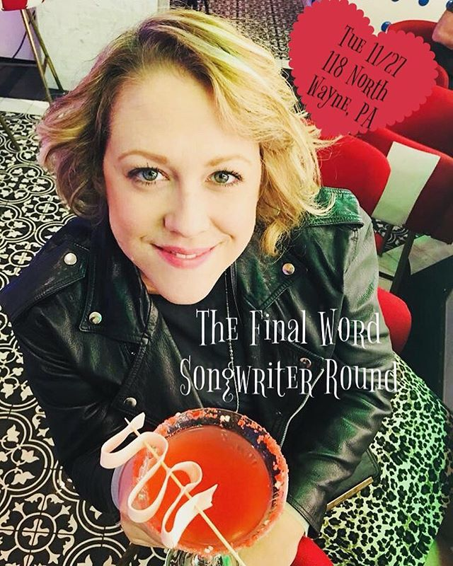 @meaghankyle is joining @bamuventures and @benarnoldmusic for The Final Word #Songwriter Round one week from tomorrow (Tuesday 11/27) at @118northwayne 🤘