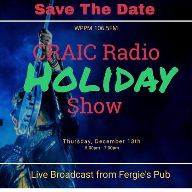 #hohoho 🎅🏽 we're making a special appearance at the @craicradioshow broadcast - live from @fergiesphilly on Thur Dec 13 with some pretty darn special guests! Tune in, or show up in person! 5-7pm 💚❤️💚