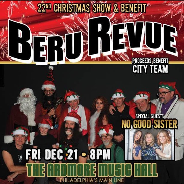 It's our only full set of #music this year! Come out to @ardmoremusichall on 12/21 as we join the @berubob Beru Revue for their 22nd #Christmas Show & Benefit. Grab those tix before they're gone!