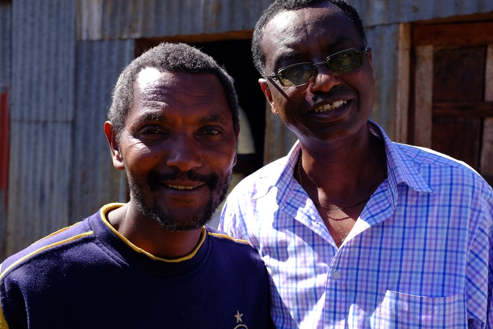 Eyasu Bekele, Manager, and Getachew Tefera, Export Manager