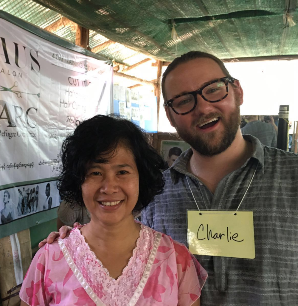 Thi Dar Aung loves her new layered bob haircut from Charlie. We all do!