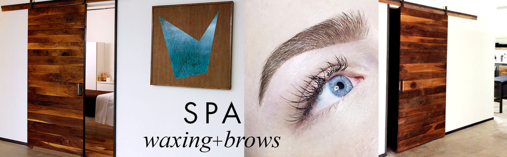 brow waxing and facial waxing at HAUS Salon