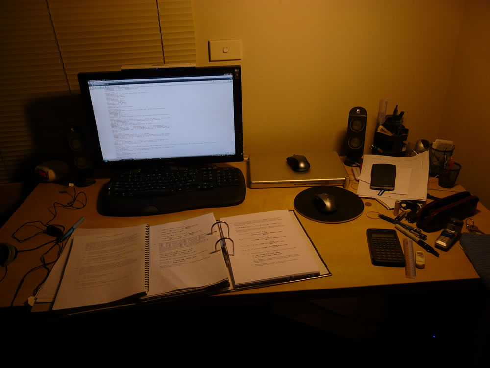 Looks too neat to be someone who's studying, right? =P