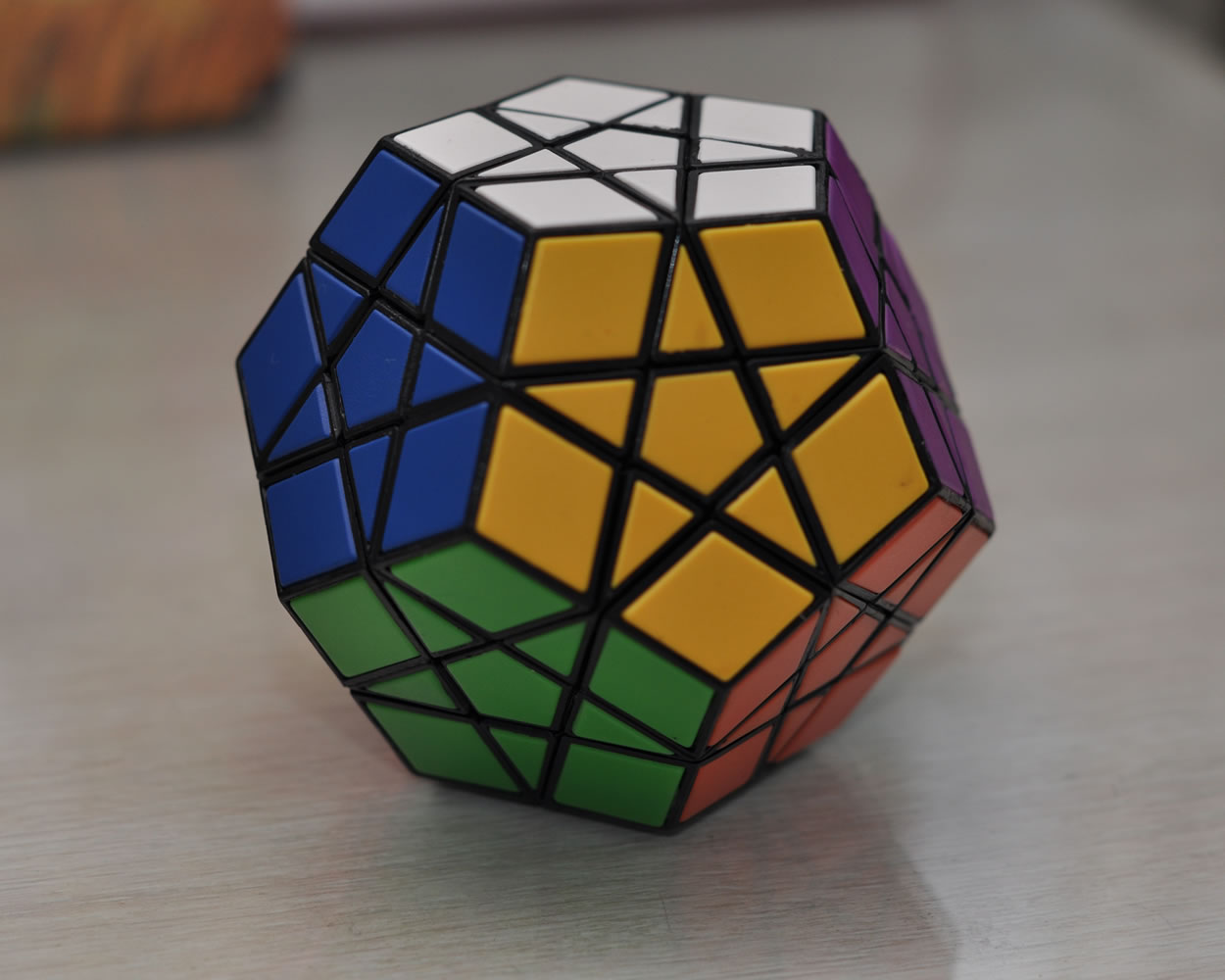 This is one of the cheapest, yet usable megaminx puzzles I could get.