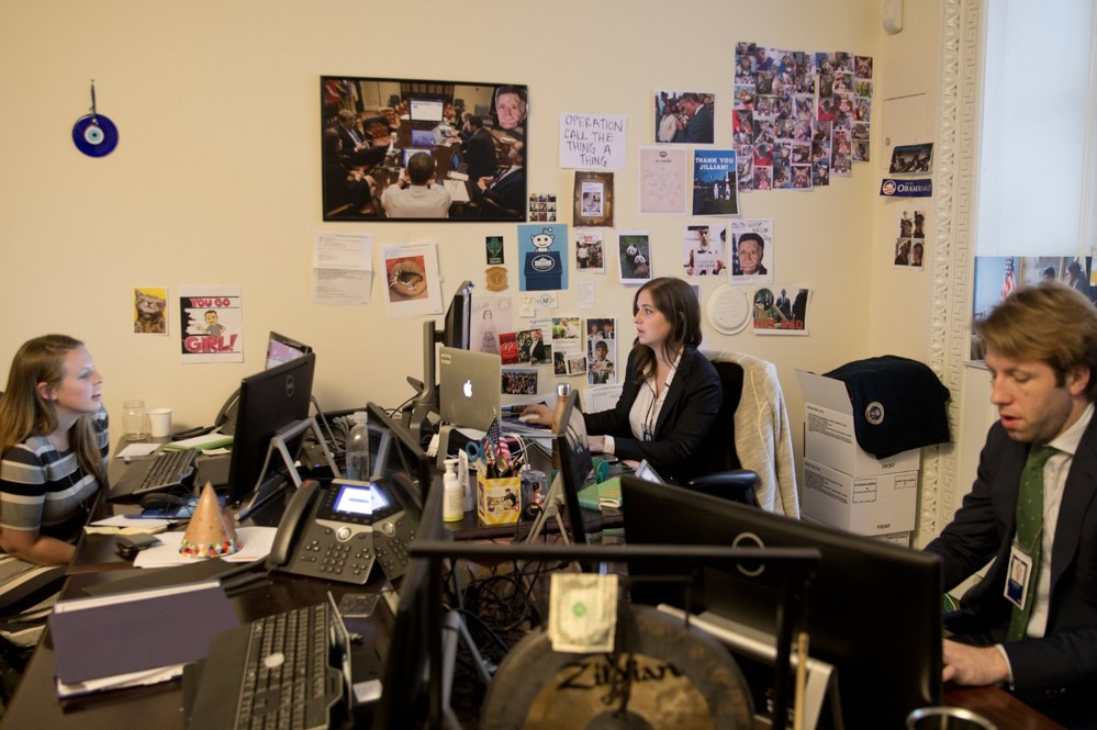 White House Staffers in the social media office inside the Eisenhower Executive Office Building in November 2015 (Crowley, 2016)