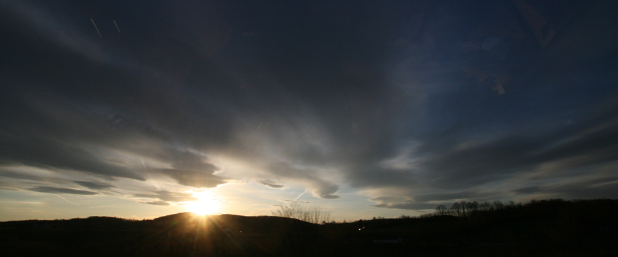 sun over mountain
