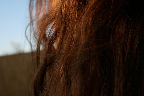 auburn brown hair sky