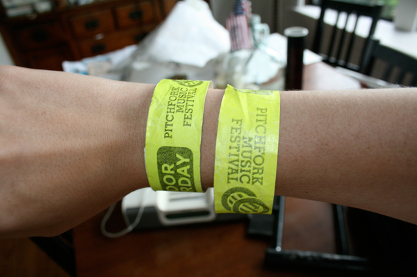 pitchfork music festival wristbands