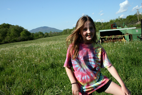 summer tie dye girl