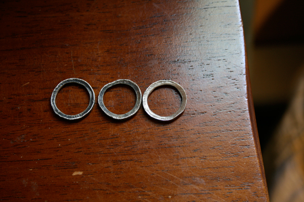 handmade rings made from quarters