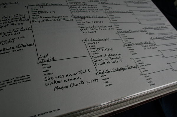 genealogical record book