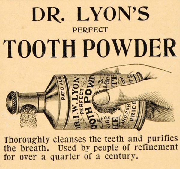 vintage tooth powder ad
