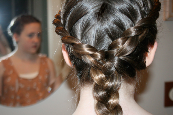 braided brown hair