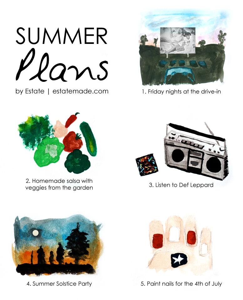 painted list of summer plans