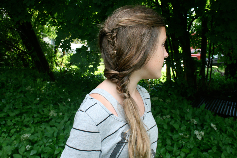 double fishtail side braid