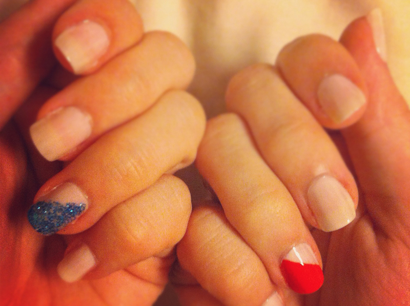 red white and blue independence day polish
