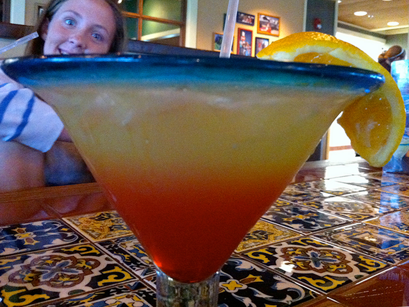 birthday drink at chili's