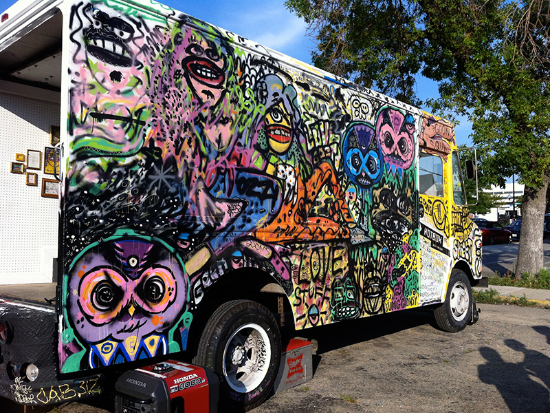 side of hotbox truck