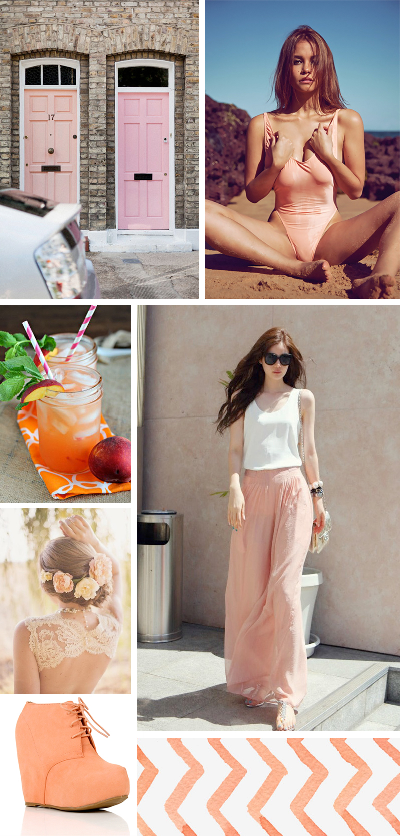 peach mood board color inspiration