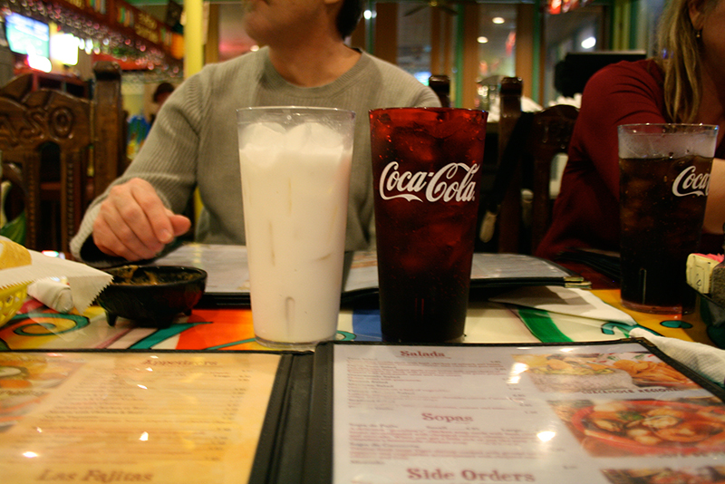 horchata and coca cola