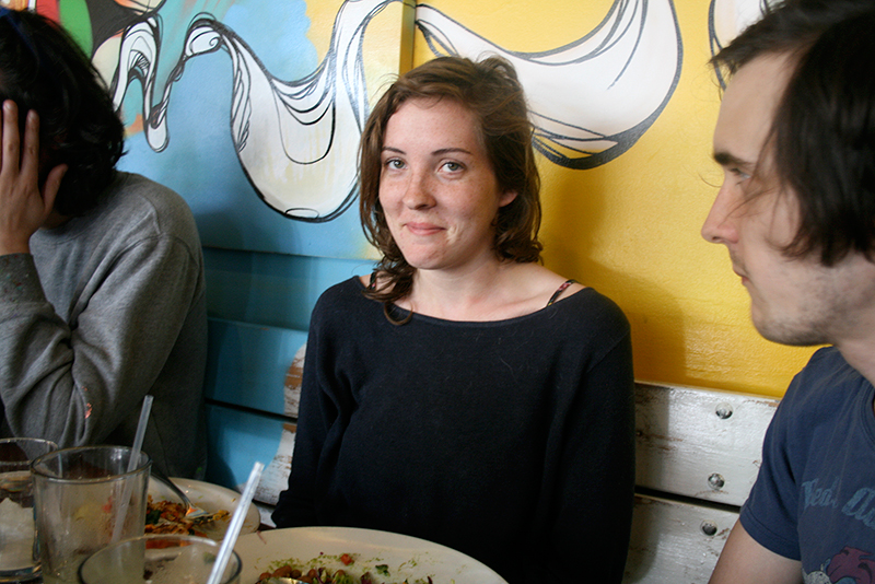 taylor  at lunch at salsa's asheville