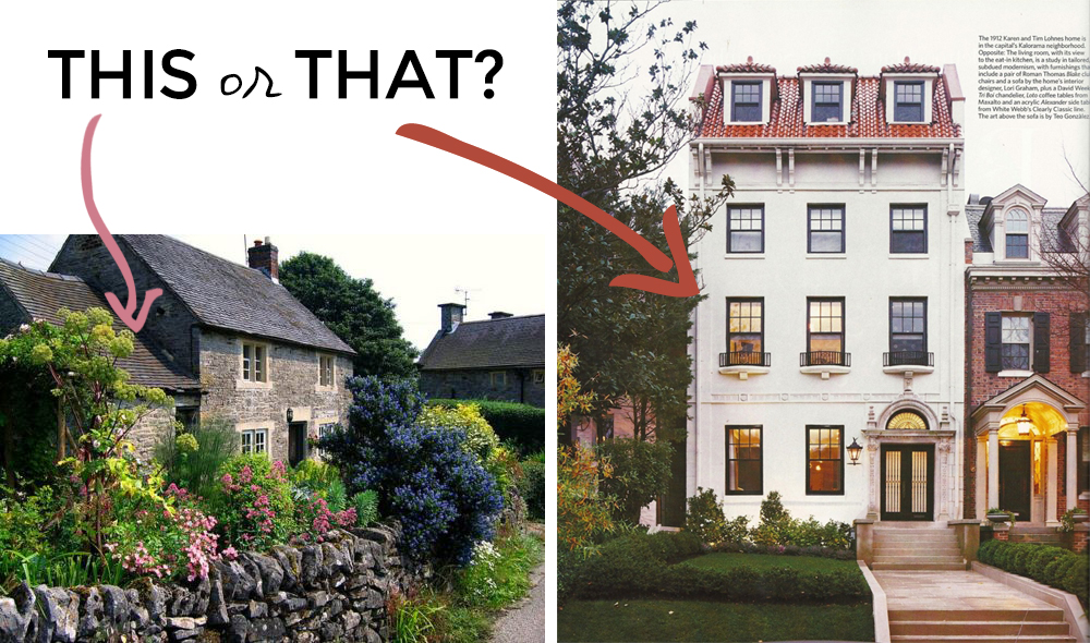 this or that - english countryside cottage or modern city home